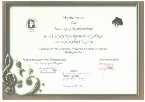 Katarzyna Rynkowska III a